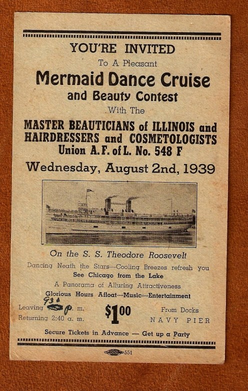 1939 Master Beauticians of Illinois Mermaid Dance Cruise and Beauty Contest