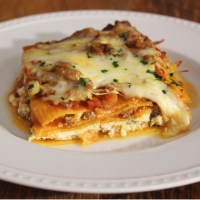 Cottage Cheese Sausage Sweet Potato Lasagna