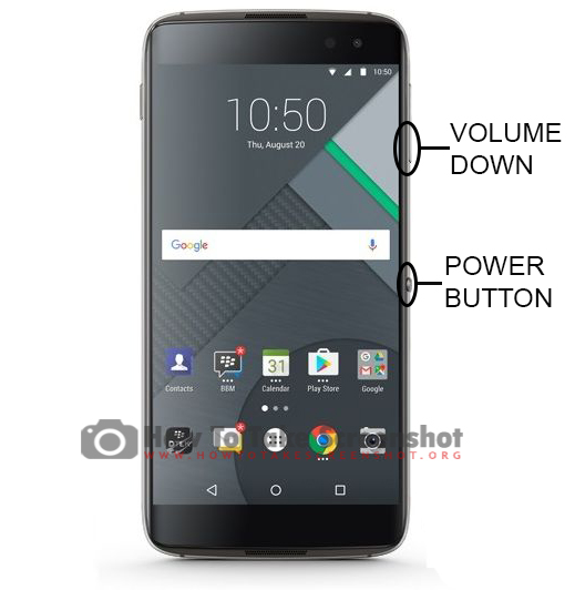 How to Take Screenshot on Blackberry DTEK60