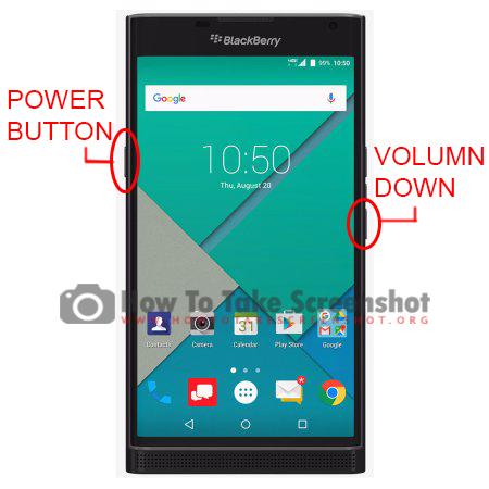 How to take Screenshot on BlackBerry Priv