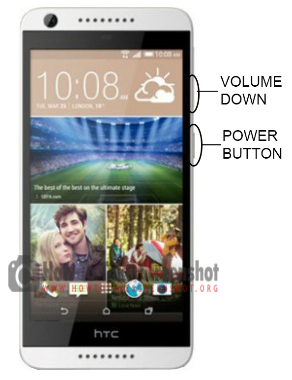 How to Take Screenshot on HTC Desire 626