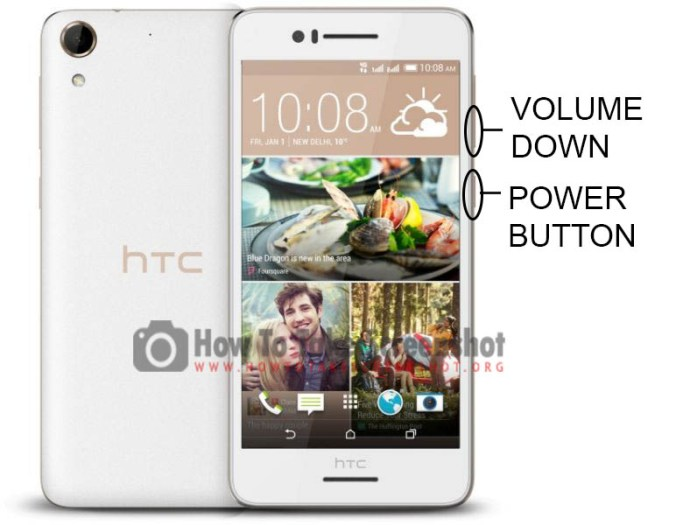 How to Take Screenshot on HTC Desire 728