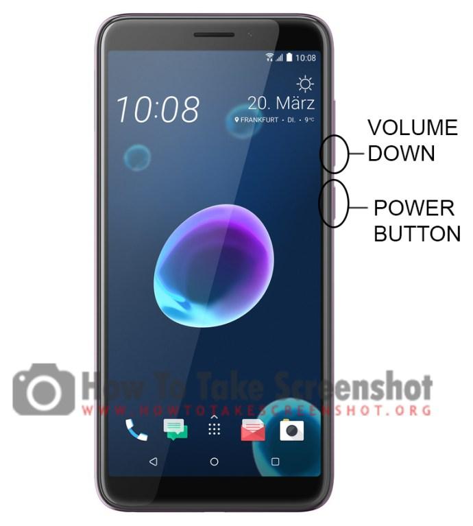 How to take Screenshot on HTC Desire 12