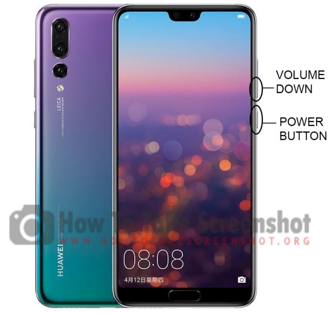 How to take Screenshot on Huawei P20 Pro