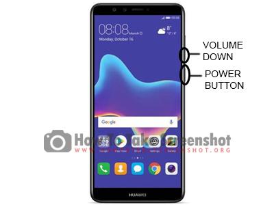 How to take Screenshot on Huawei Y9 2018
