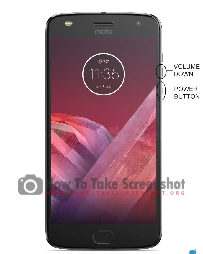 How to take Screenshot on Moto Z3 Play