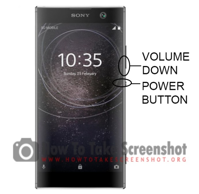 How to Take Screenshot on Sony Xperia XA2 Plus
