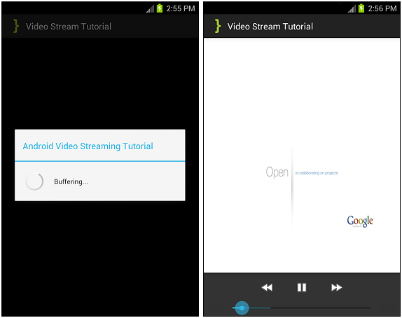 VideoStreamTutorial ScreenShots