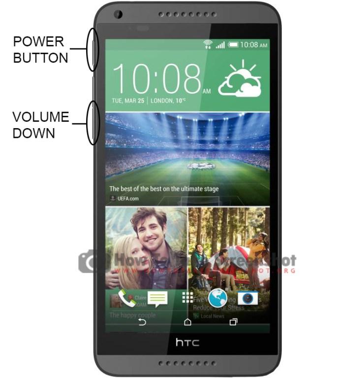 How to Take Screenshot on HTC Desire 816