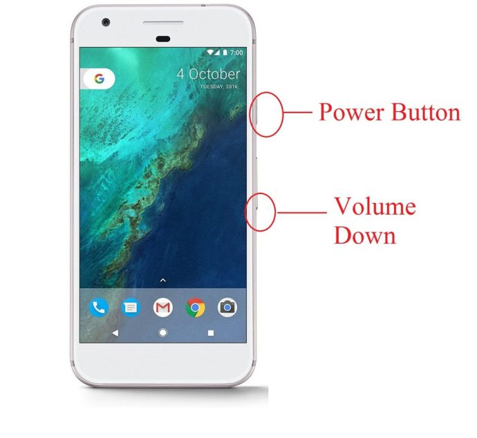 How to take Screenshot on Google Pixel