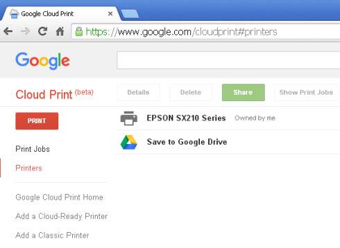 Google-cloud-print-management