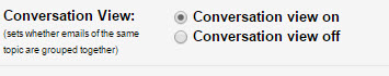 Google-converstations-settings