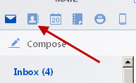 Yahoo-contacts-button