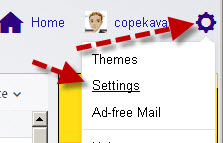 Yahoo-settings