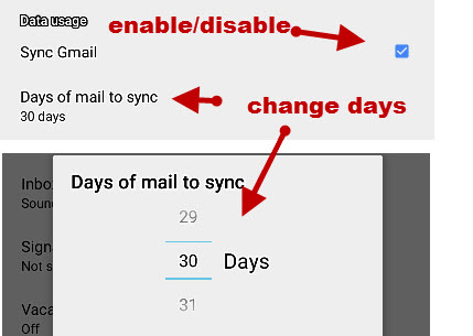 android-gmail-sync