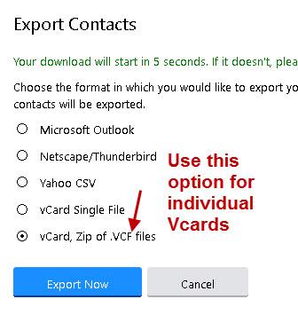 create-vcards-Yahoo