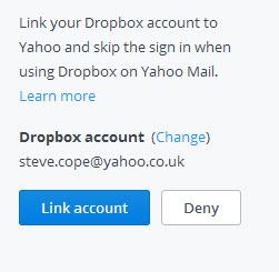 link-yahoo-dropbox-accounts