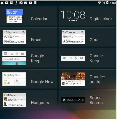 select-widget-lockscreen