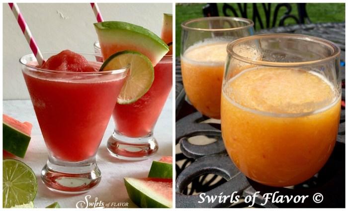 Watermelon Frose and Peach Bellini Slushy