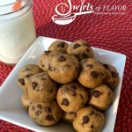 With just a few basic ingredients you can stir up a bowl of love in your kitchen today! No-Bake Chocolate Chip Cookie Bites are sure to please!