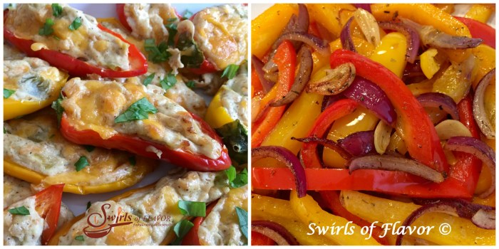 Sweet Pepper Jalapeno Poppers and Buttery Peppers and Onions