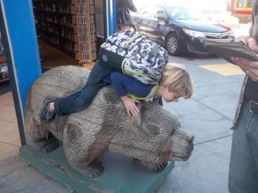 Darius ridding the bear