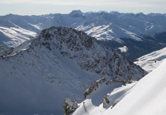 Freerider below Weissfluh (Davos)
