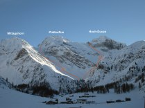 Mittagshorn - Hoch Ducan Couloirs