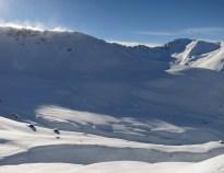 View of Chrachenhorn ridge