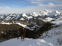 Markus and Mauri on the ridge