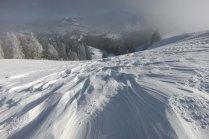 Windblown snow on Tanzboden