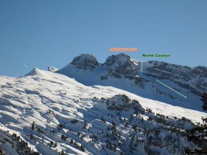 View of Mutteristock and North Couloir