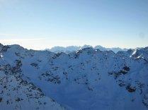View of Bernina Mountains