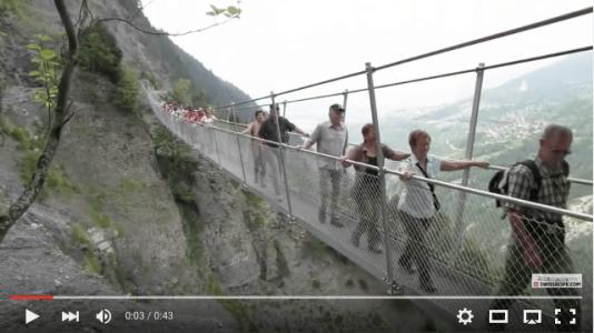 Passerelle Hängebrücke Savièse No.3, 144 m SkyPromenade.com
