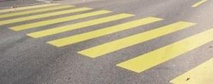 黄色い横断歩道がまた減ります