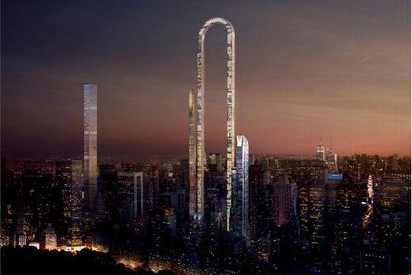 将来はNYにこんな建物が立つ?デザイン会社が考案した曲がったビルがユニーク