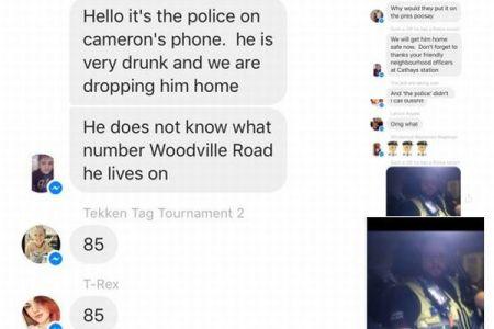 泥酔した学生を家に送り届けるため、警察官がスマホでチャットに参加し住所を聞き出す