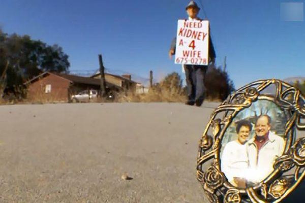 移植が必要な病気の妻のため、路上で腎臓の提供を呼びかけた男性の夢がついに叶う