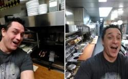 酔っぱらってレストランで勝手に調理した男、炎上の代わりにハッピーエンドを迎える