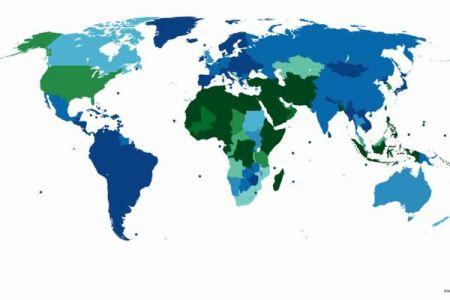 アメリカや韓国も!?割礼が行われている地域を示す地図が興味深い