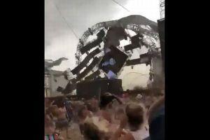 ブラジルの野外ライブ会場が強風で崩壊し、ステージにいたDJが死亡