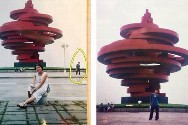 運命の赤い糸?知り合う11年前、夫婦が同じ場所にいたことが写真で明らかに