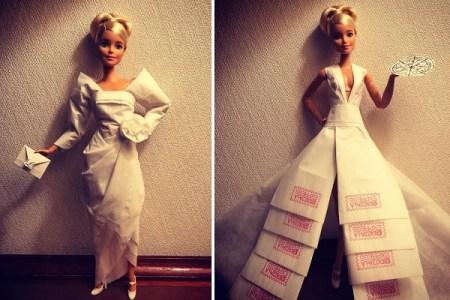 バービー収集家が、意外なものを使って手作りするドレスが素敵すぎる!