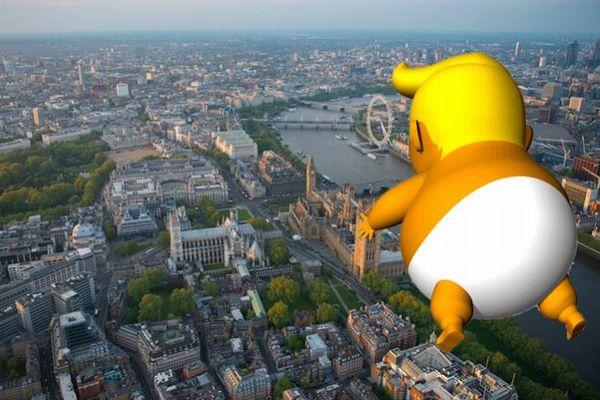 トランプ大統領の英訪問に合わせ、赤ちゃん姿のバルーンが浮かぶことに