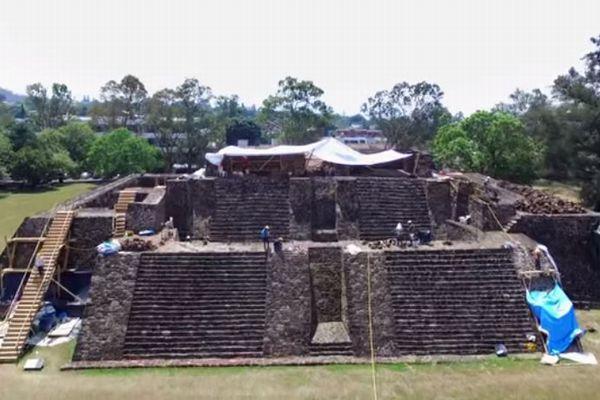 メキシコで巨大地震によるダメージを受けたピラミッド、内部から寺院を発見