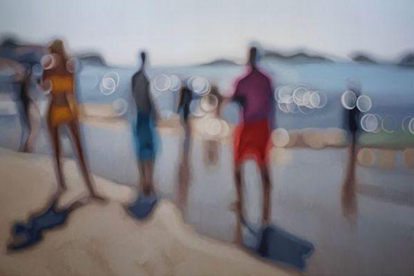 近視の人が見ている世界のよう!油彩画で描き出す光のアート作品が美しい