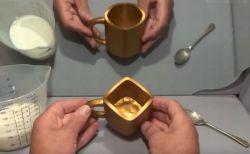 四角なのに丸く見えてしまう!錯覚を利用した不思議なマグカップがユニーク