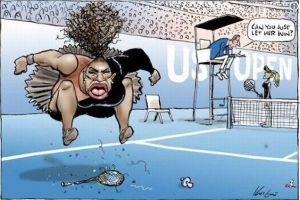 セリーナ・ウィリアムズの風刺画に批判殺到、人種差別的だとして有名人も非難