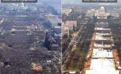 トランプ大統領の就任式の写真、人を多く見せるよう画像処理されたことが明らかに