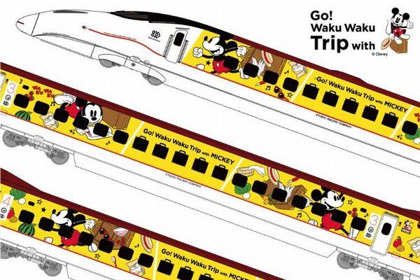 「かわいい!やばい!」ミッキーデザインの九州新幹線が5月17日に運行開始